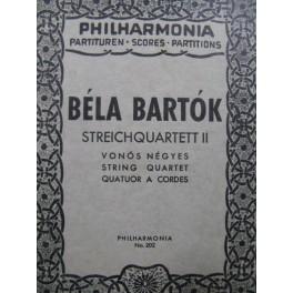BARTOK Béla Streichquartett II Quatuor à cordes 1948