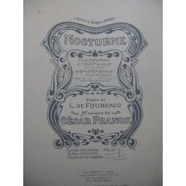 FRANCK César Nocturne Chant Piano 1932