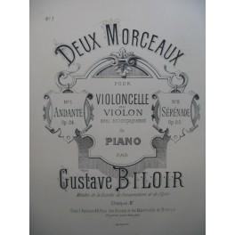 BILOIR Gustave Andante Violon Piano