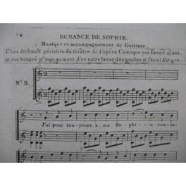 DOCHE Joseph-Denis Romance de Sophie Chant Guitare XIXe