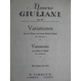 GIULIANI Mauro Variationen Händel op 107 Guitare