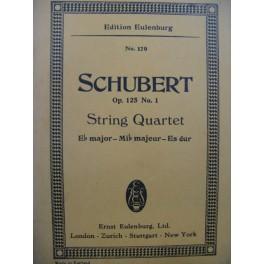 SCHUBERT Franz String Quartet op 125 No 1 Quatuor à cordes