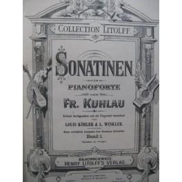 KUHLAU Frédéric Sonatinen Band 1 Piano XIXe
