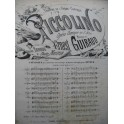 GUIRAUD Ernest Piccolino No 9 Chant Piano c1875