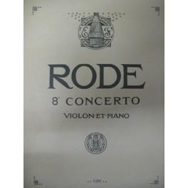 RODE Pierre Concerto pour Violon n° 8