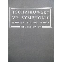 TSCHAIKOWSKY P. I. VIe Symphonie op 74 Orchestre