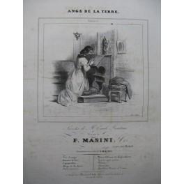 MASINI F. Ange de la Terre Chant Piano ca1840