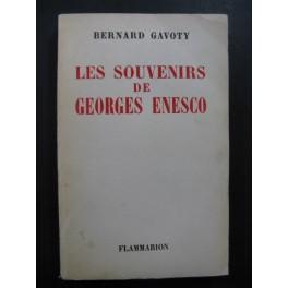 GAVOTY Bernard Les Souvenirs de Georges Enesco 1955