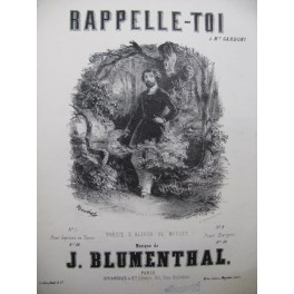 BLUMENTHAL Jacques Rappelle-toi Chant Piano ca1855