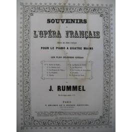 RUMMEL Joseph Le Postillon de Lonjumeau Piano 4 mains XIXe