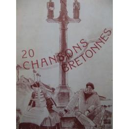 ARNOUX Georges 20 Chansons Bretonnes Chant Piano 1933
