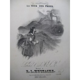 HUSTACH R. L. La Tour des Preux Chant Piano XIXe