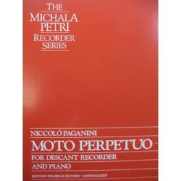 PAGANINI Niccolo Moto Perpetuo Piano Flûte à bec