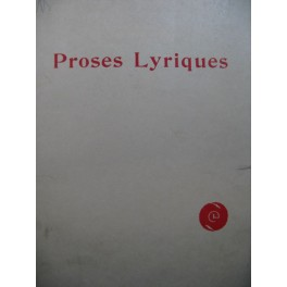 DEBUSSY Claude Proses Lyriques Chant Piano 1895