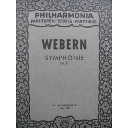 WEBERN Anton Symphonie op 21 Orchestre