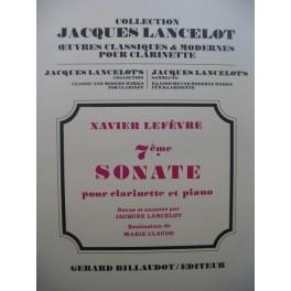 LEFÈVRE Xavier 7e Sonate Piano Clarinette 1974