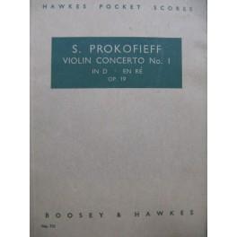PROKOFIEV Sergei Concerto Violon No 1 op 19 Orchestre