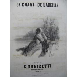 DONIZETTI G. Le Chant de l'Abeille Chant Piano XIXe