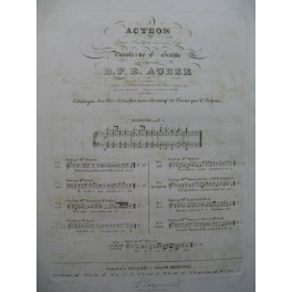AUBER D. F. E. Acteon No 5 Chant Piano 1836