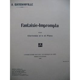 BOURNONVILLE Armand Fantaisie Impromptu Piano Clarinette 1928