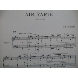 HAENDEL G. F. Air Varié Piano