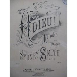 SMITH Sydney Adieu Piano XIXe siècle