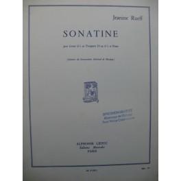 RUEFF Jeanine Sonatine Piano Trompette ou Cornet