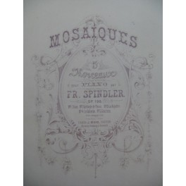SPINDLER Fritz Grazioso Piano XIXe siècle