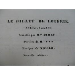 ISOUARD Nicolo Le Billet de Loterie No 5 Chant Piano ca1855