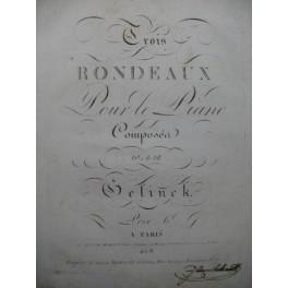 GELINEK Joseph Trois Rondeaux Piano ca1810