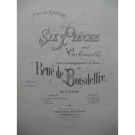DE BOISDEFFRE René 3 Pièces Violoncelle Piano ca1880