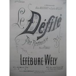 LEFÉBURE-WÉLY Le Défilé 2 Pianos 4 mains ca1880