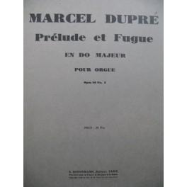 DUPRÉ Marcel Prélude et Fugue en Do Majeur Orgue 1940