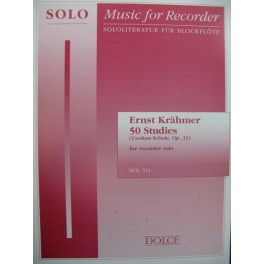 KRAHMER Ernest 50 Studies from the Csakean-schule Flute à bec solo