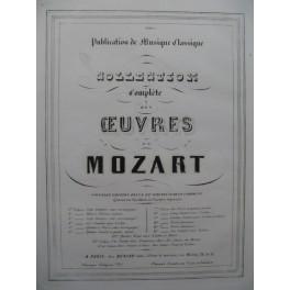 MOZART W. A. Quatre Sonates Piano 4 mains ca1850