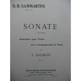 SAMMARTINI G. B. Sonate Piano Violon 1921