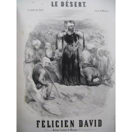 DAVID Félicien Le Désert Nanteuil Opéra Chant Piano ca1845