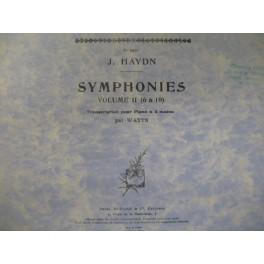 HAYDN Joseph Symphonies Vol 2 piano 4 mains