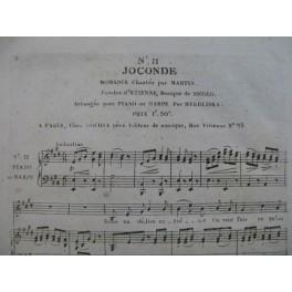 ISOUARD Nicolo Joconde No 11 Chant Piano ou Harpe ca1805