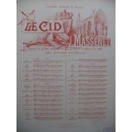 MASSENET Jules Le Cid No 14 Air de Don Diègue Chant Piano 1886