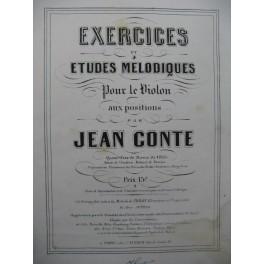 CONTE Jean Exercices et Etudes Mélodiques Violon XIXe
