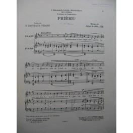 MAZELLIER Jules Prière Chant Piano 1911
