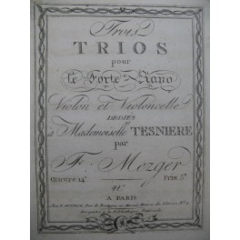 MEZGER Franz Trio No 1 Violon XVIIIe