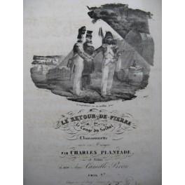 PLANTADE Charles Le Retour de Pierre Chant Piano ca1830