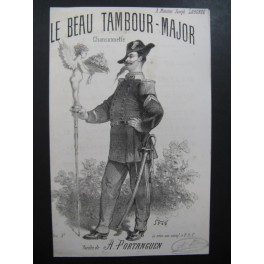 DE CROZE J. B. Le Beau Tambour Major Chant XIXe