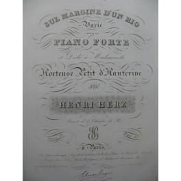 HERZ Henri Sul Margine d'un Rio Varié Piano ca1830