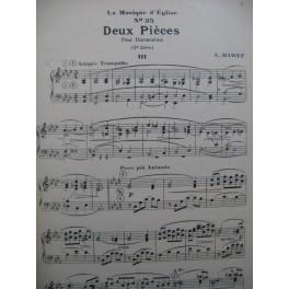 MAWET L. Deux Pièces Harmonium Orgue