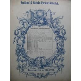 MOZART W. A. Kantate Dir Seele Chant Piano ou Orchestre