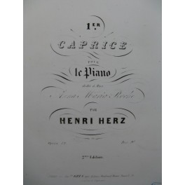 HERZ Henri 1er Caprice Piano ca1845