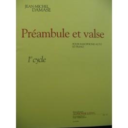 DAMASE Jean-Michel Préambule et Valse Piano Saxophone 2004